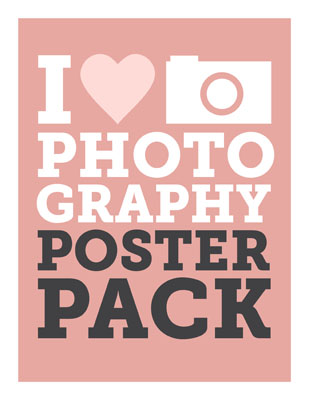 I Heart Photography Poster Pack