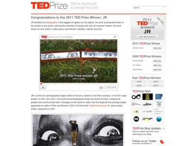 Get Inspired: TED prize winning photographer: JR