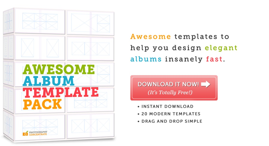 Photography Concentrate  Free Album Templates