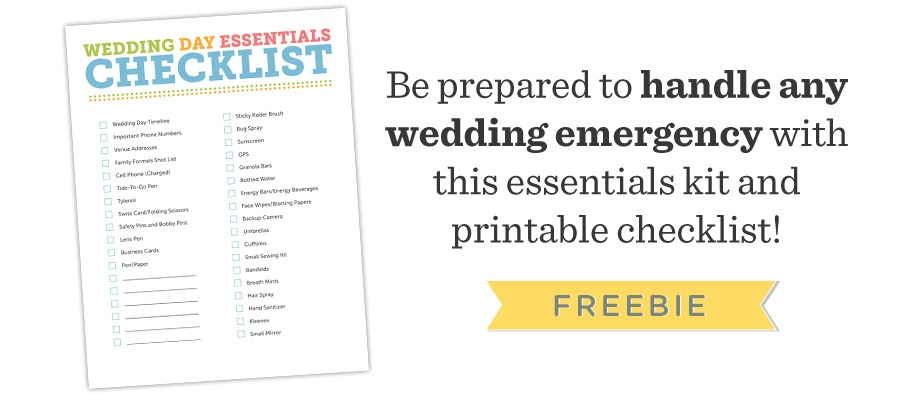 Free Wedding Photography Essentials Checklist
