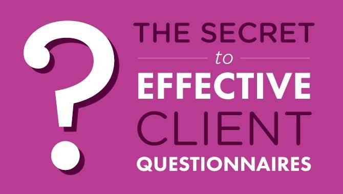 Secret-to-client-questionnaires