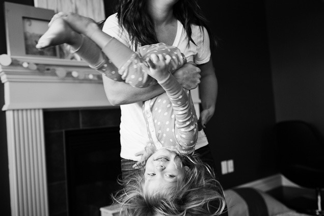 Mother & Daughter playing Black and White