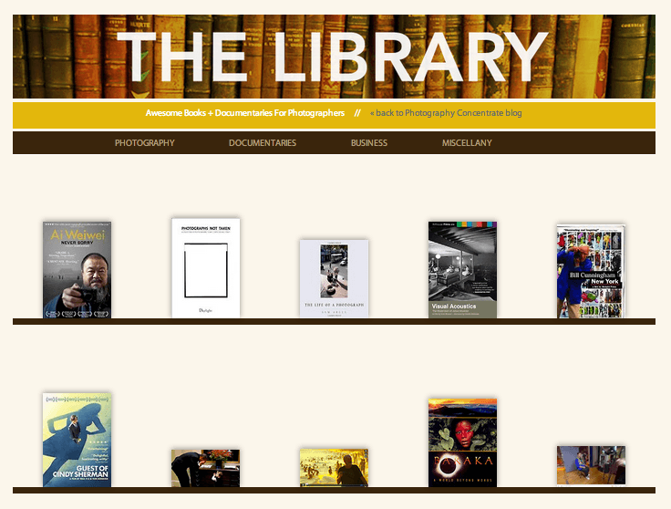 Need Inspiration? Introducing A New Feature: The Library!