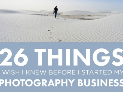 26 Things I Wish I'd Known Before Starting My Photography Business // Part 1