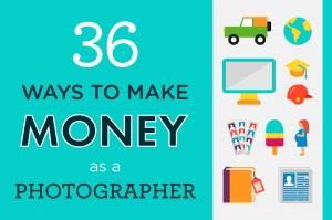 Infographic: 36 Ways to Make Money as a Photographer