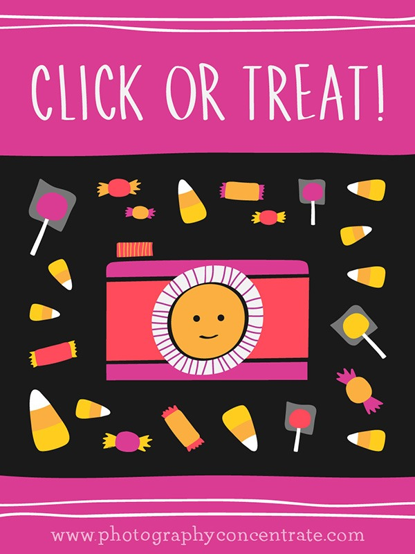 Free Click Or Treat! Halloween Photography Cards