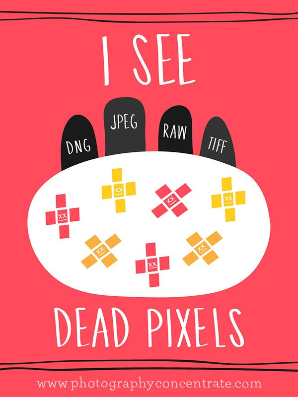Free I See Dead Pixels Halloween Photography Card